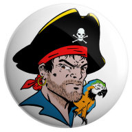 Long John Silver badge