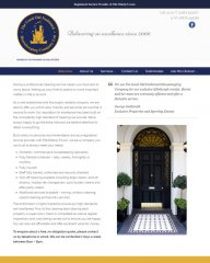 Housekeeping Services website