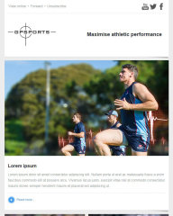 GP Sports email templates